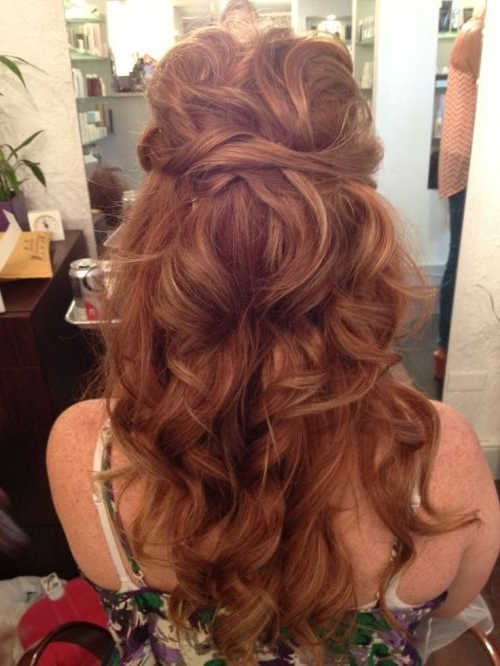 Gorgeous Bridal Hairstyles For Red Hair! For Wedding Hairstyles For Long Red Hair (View 7 of 15)