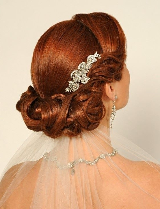 Gorgeous Bridal Hairstyles For Red Hair! Inside Wedding Hairstyles For Long Red Hair (View 9 of 15)