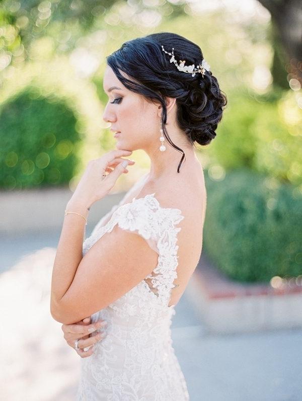 Gorgeous Gold Wedding In Arizona | Wedding Within Japanese Wedding Hairstyles (View 15 of 15)