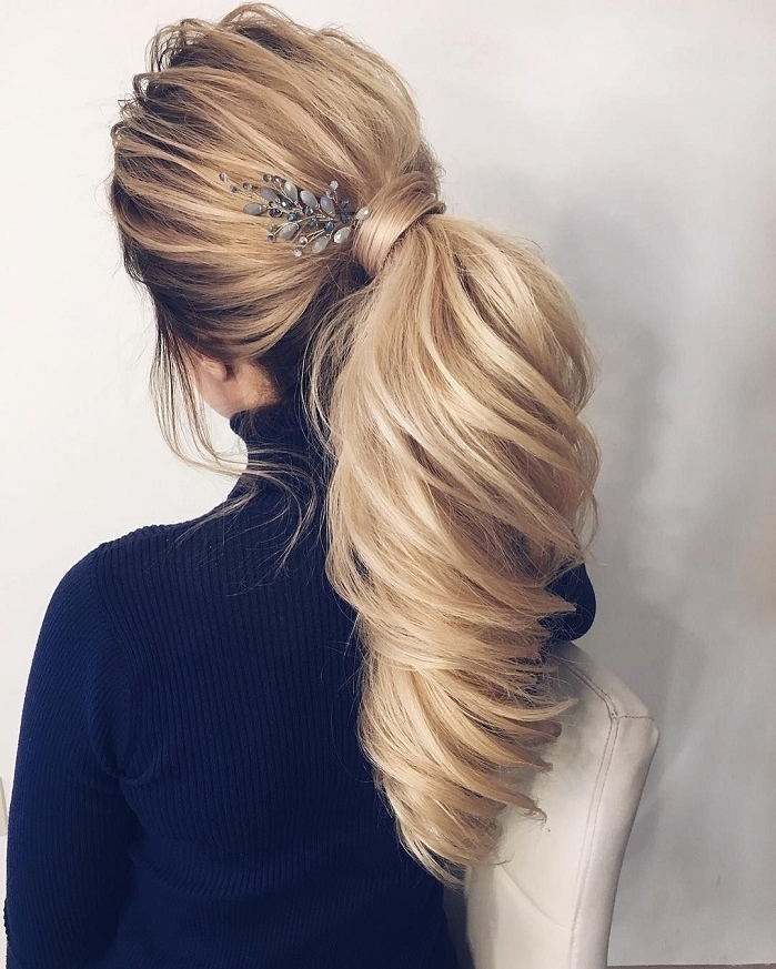 Gorgeous Ponytail Hairstyle Ideas That Will Leave You In Fab With Wedding Hairstyles With Ponytail (View 11 of 15)
