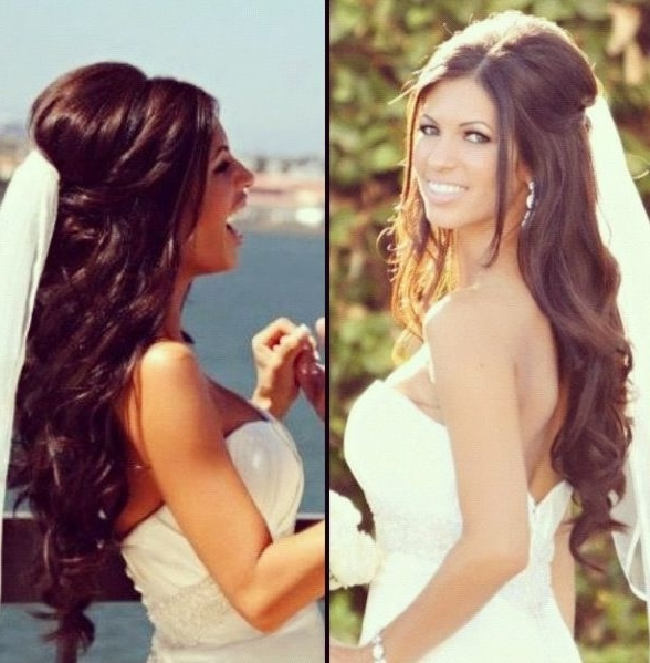 Gorgeous Wedding Hair #hairstyle #bride #bridal Half Up Do With Wedding Hairstyles With Hair Extensions (View 5 of 15)