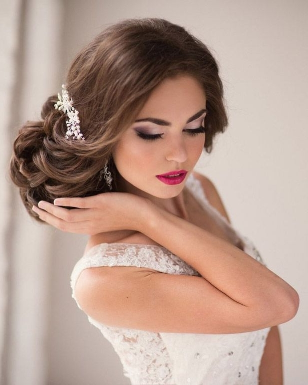 Gorgeous Wedding Hairstyles And Makeup Ideas | Makeup Ideas, Short With Regard To Wedding Hairstyles And Makeup (View 11 of 15)