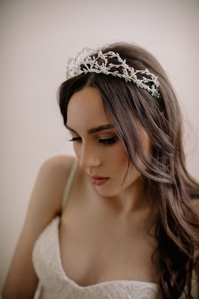 Gorgeous Wedding Hairstyles For Long Hair | Tania Maras Throughout Wedding Hairstyles For Long Hair With Crown (View 6 of 15)