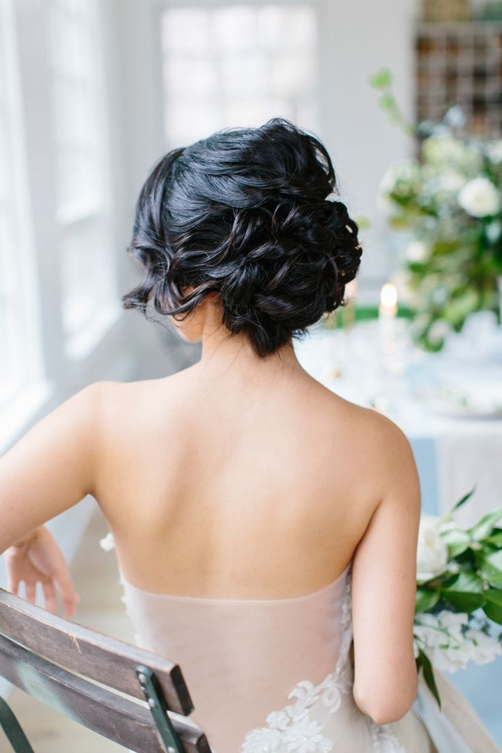 Gorgeous Wedding Hairstyles For Medium Length Hair Intended For Wedding Hairstyles For Medium Length Dark Hair (Gallery 9 of 15)