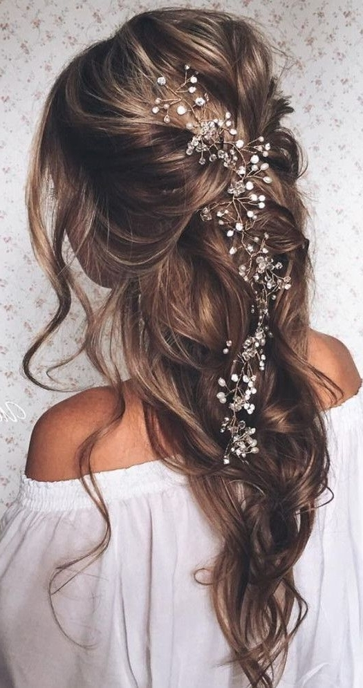 Gorgeous Wedding Hairstyles | Time For The Holidays Pertaining To Wedding Hairstyles With Jewels (View 9 of 15)