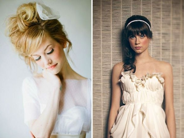 Got Bangs? 5 Fringe Friendly Wedding Hairstyles | Bridal Hairstyle Intended For Wedding Hairstyles For Long Hair And Fringe (Gallery 12 of 15)