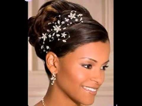 Great African American Wedding Updo Hairstyles Ideas – Youtube With Updos African American Wedding Hairstyles (Gallery 8 of 15)