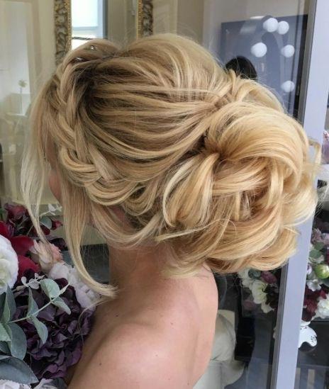 Hair – Side Braided Loose Bun Wedding Hairstyle #2775801 – Weddbook Within Loose Bun Wedding Hairstyles (View 4 of 15)