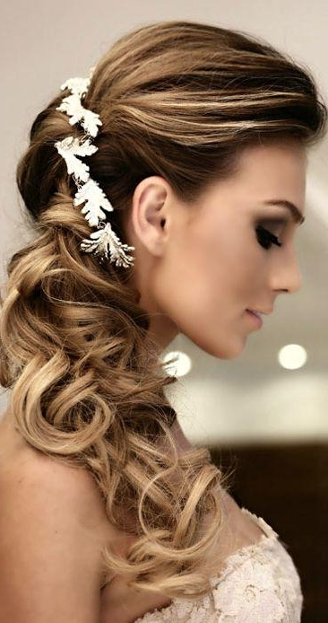 Hair – Side Swept Wedding Hairstyles To Inspire #2342898 – Weddbook Intended For Side Swept Wedding Hairstyles (View 8 of 15)