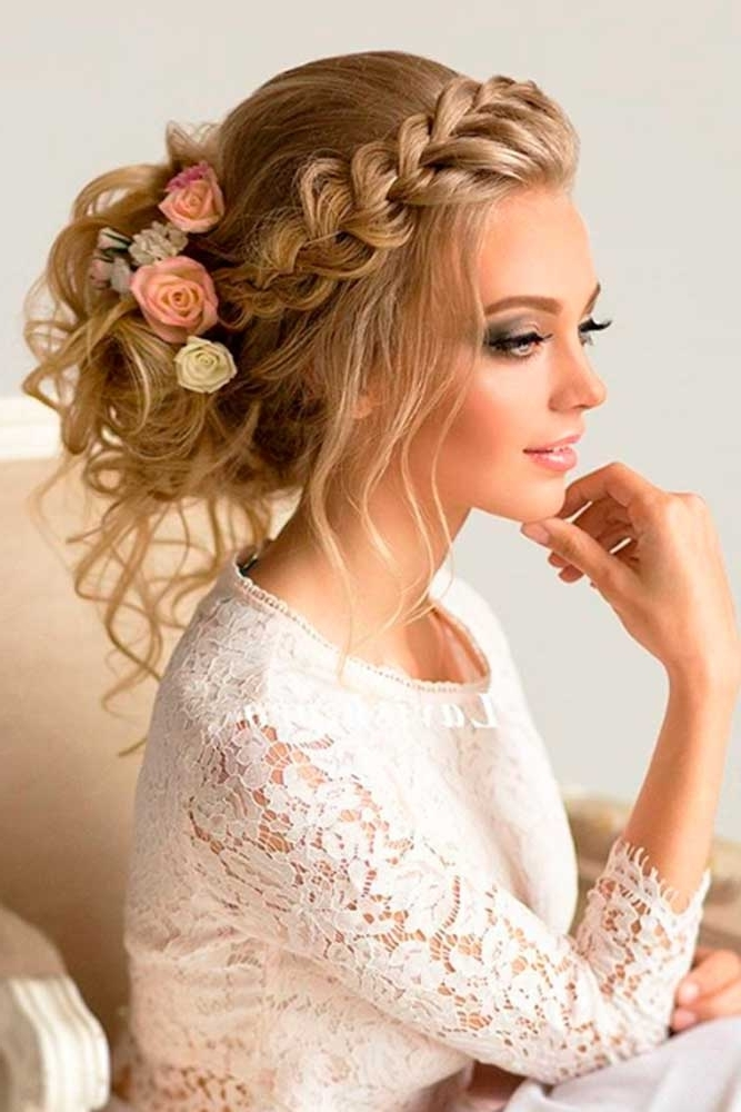 Hair Style | Donalovehair Regarding Plaits And Curls Wedding Hairstyles (View 10 of 15)