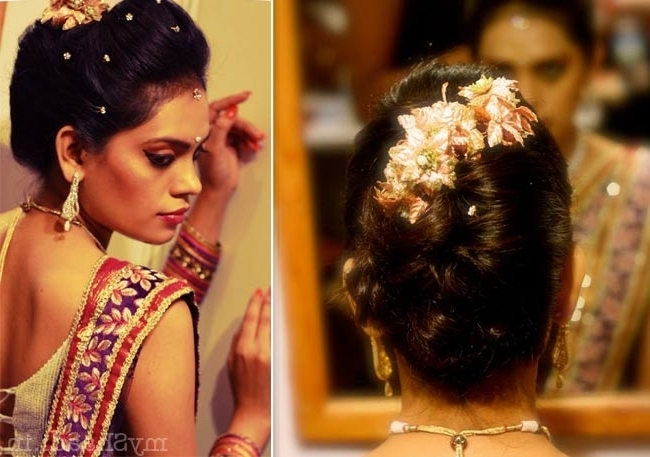 Hair Style For Wedding Reception Beauteous Different Indian Regarding Indian Wedding Reception Hairstyles For Long Hair (View 7 of 15)