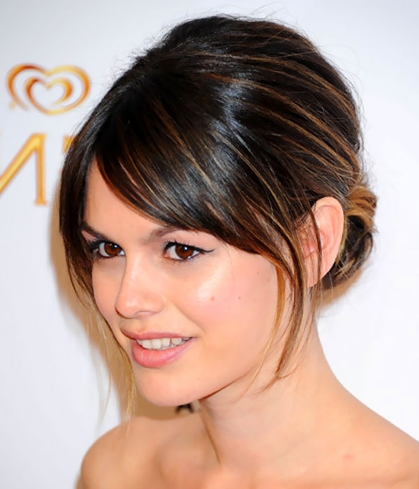 Hair Style Picture: Medium Length Hair With Bangs Throughout Wedding Hairstyles For Mid Length Hair With Fringe (View 4 of 15)