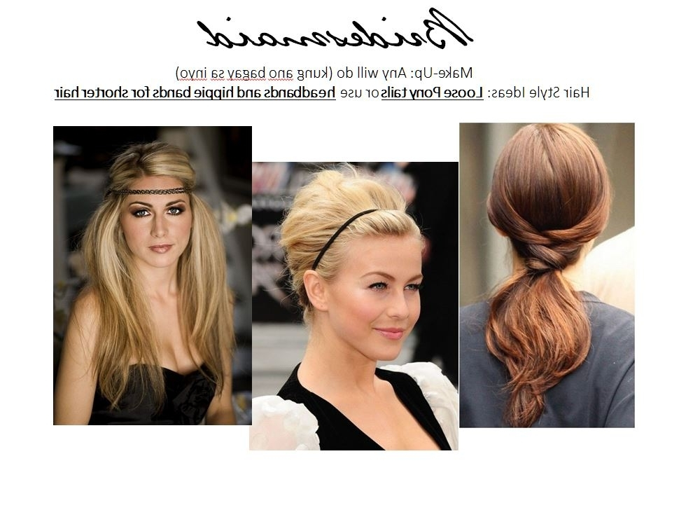 Hair Style Suggestions For Th Wedding Entourage – Sephayeen: From With Regard To Wedding Entourage Hairstyles (View 13 of 15)