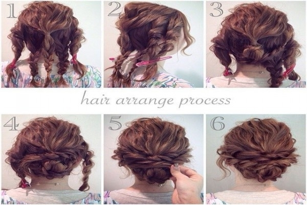 Hair Tutorial: A Quick, Easy And Messy Updo For Curly Hair – Youtube With Regard To Quick And Easy Wedding Hairstyles For Long Hair (View 7 of 15)
