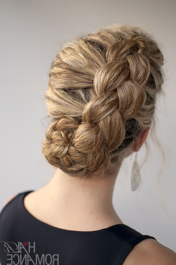 Hairstyle For Curly Hair: Dutch Braid Tutorial – Hair Romance Within Wedding Updos For Long Thick Hair (View 9 of 15)
