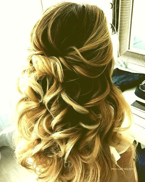 Hairstyle For Prom Night 2018 Elegant Prom Hairstyles Updo 2018 Pertaining To Partial Updo Wedding Hairstyles (View 15 of 15)