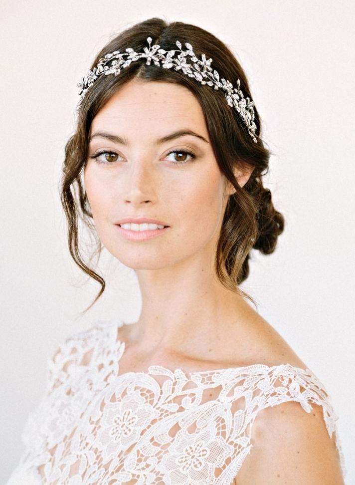 Hairstyles : Crystal Bridal Headband For Beautiful Hairstyles For Wedding Hairstyles With Headband (View 13 of 15)