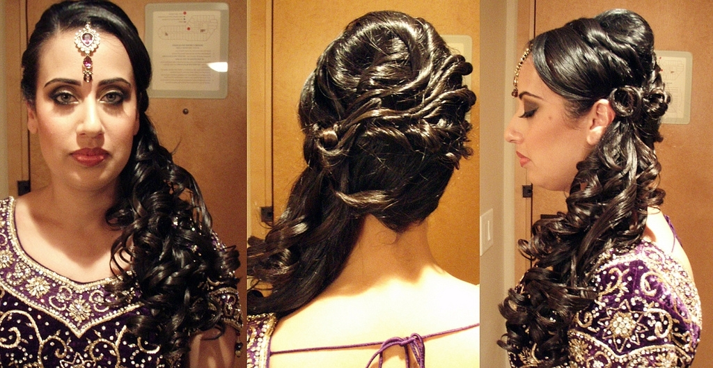 Hairstyles For Indian Weddings – Hairstyle For Women & Man Regarding Indian Wedding Reception Hairstyles For Long Hair (View 11 of 15)