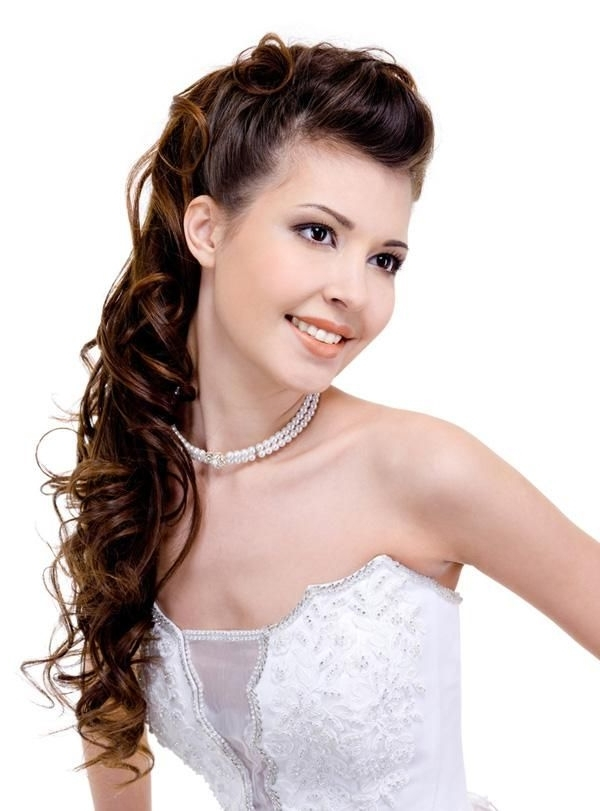 Hairstyles For Long Curly Hair For A Wedding | Lovely Locks With Regard To Wedding Hairstyles For Young Brides (View 9 of 15)