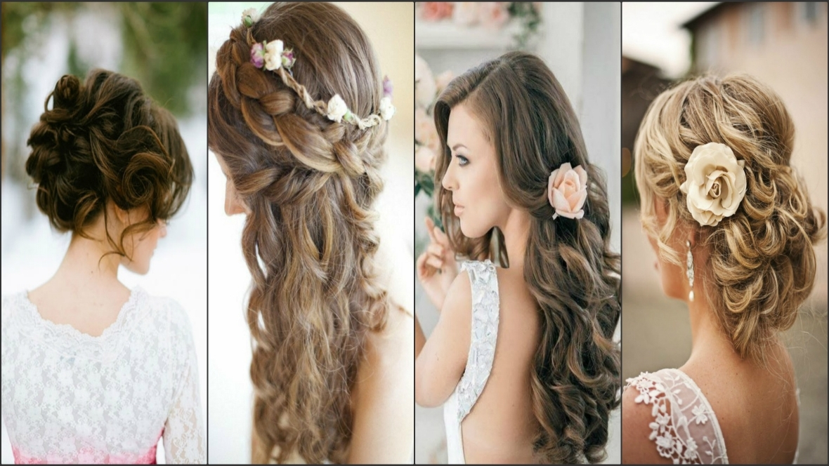 Hairstyles For Long Hair Wedding – The Newest Hairstyles Regarding Wedding Hairstyles For Thin Straight Hair (View 10 of 15)