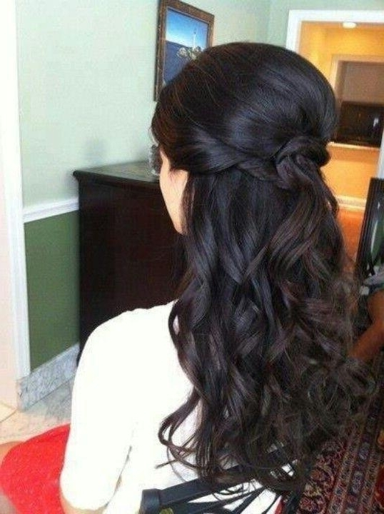 Hairstyles For Prom Half Up Half Down For Dark Hair | Korhek Intended For Wedding Hairstyles For Dark Hair (View 15 of 15)