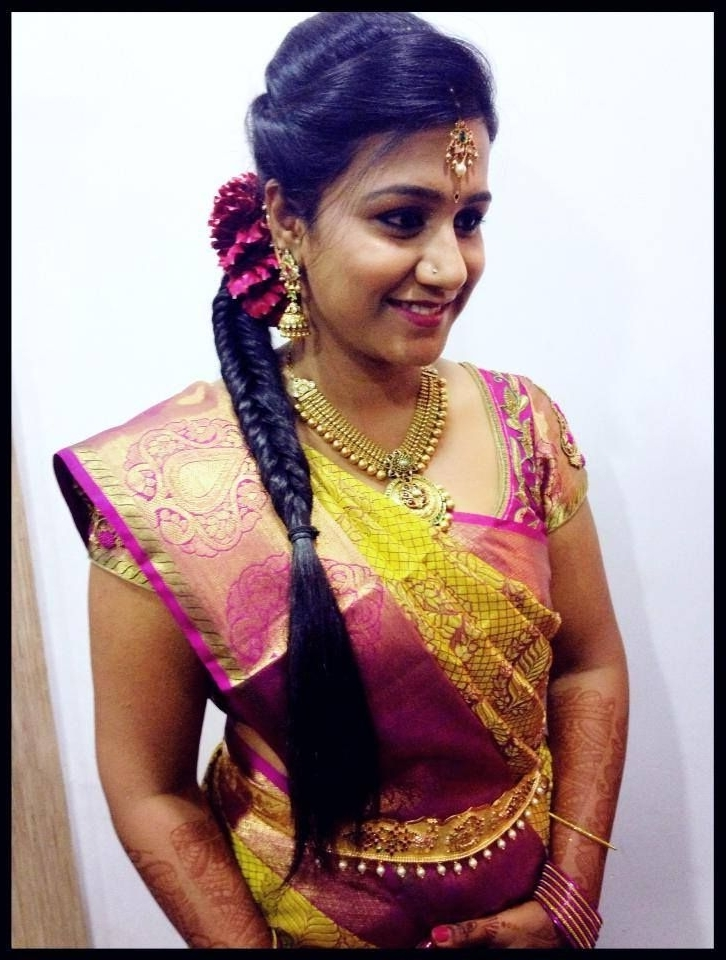 Hairstyles For Wedding Reception Indian – Hairstyle For Women & Man Intended For Indian Wedding Reception Hairstyles For Long Hair (View 4 of 15)