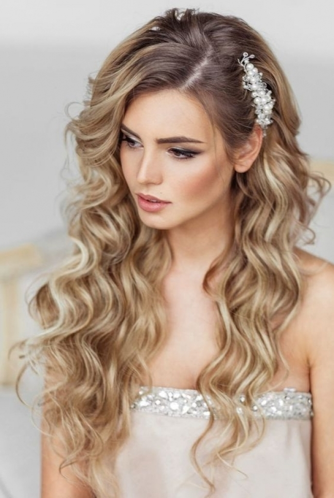 Hairstyles Hair Down Wedding Hairstyles For Straight Long Hair Down With Wedding Hairstyles With Long Hair Down (View 15 of 15)