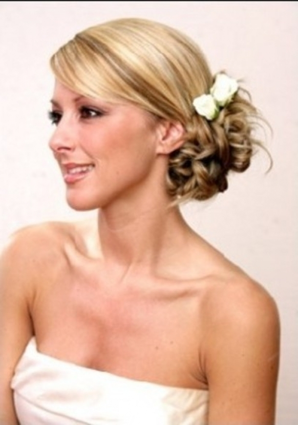 Hairstyles On Wedding – Hairstyle For Women & Man Inside Bridal Hairstyles For Short To Medium Length Hair (View 10 of 15)