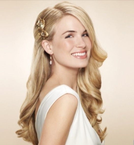 Hairstyles Part Up And Down Fresh One Side Clipped Back Wedding Hair With One Side Up Wedding Hairstyles (View 7 of 15)