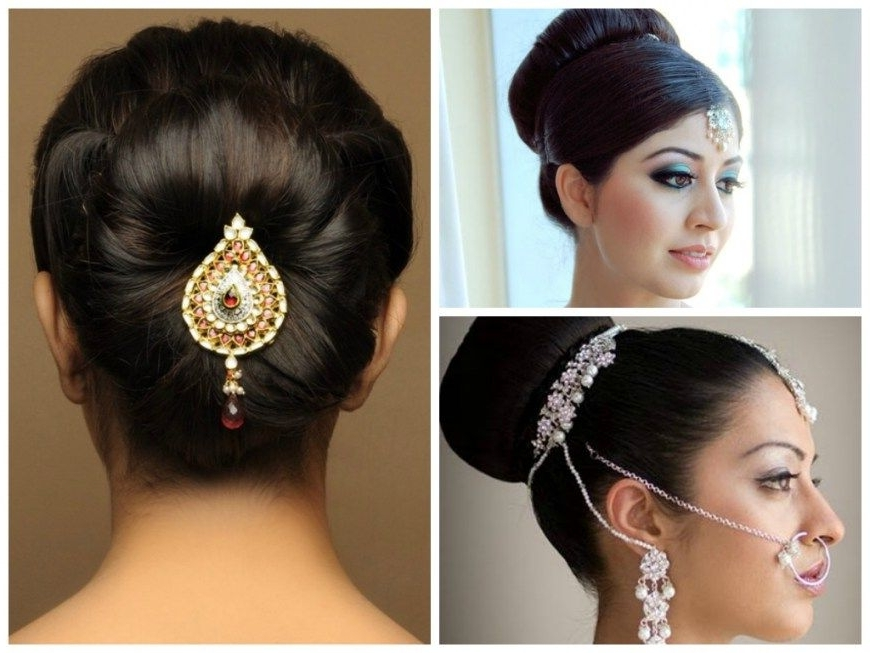 Hairstyles Stepstep For Medium Length Hair Indian Wedding In Simple Indian Bridal Hairstyles For Medium Length Hair (View 2 of 15)