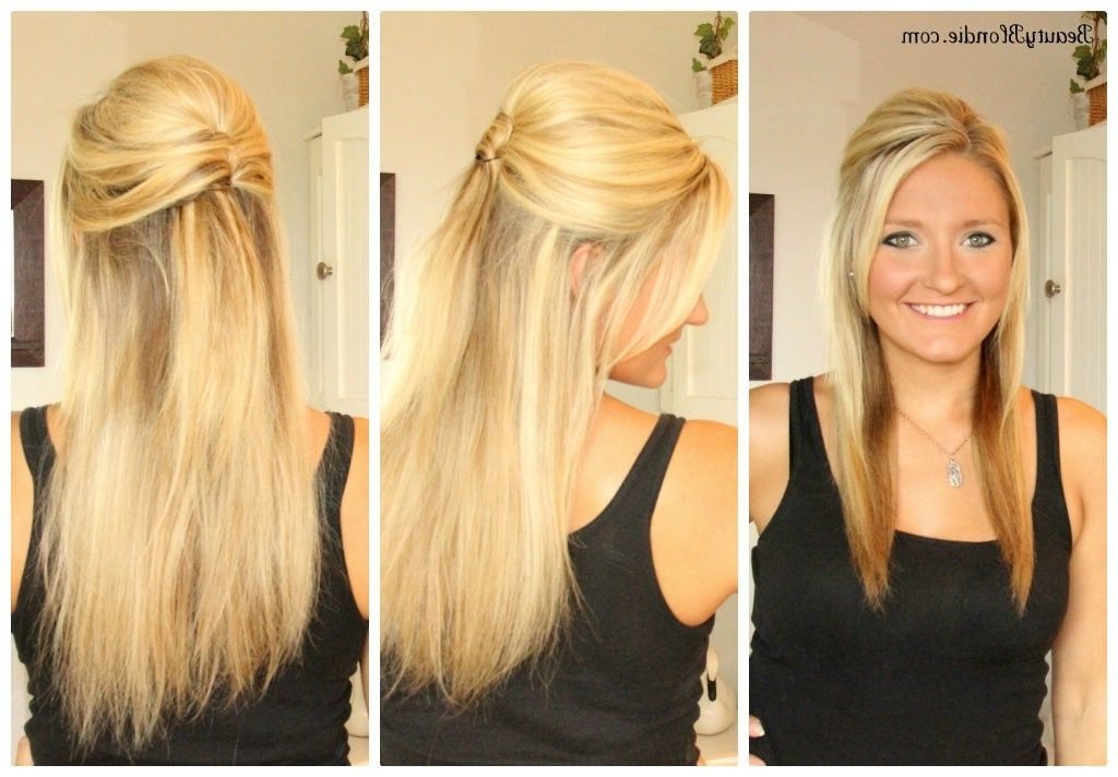 Hairstyles Straight Wedding – Google Search | Wedding! | Pinterest With Wedding Hairstyles For Down Straight Hair (View 5 of 15)