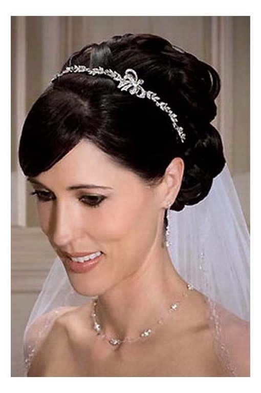 Hairstyles, Wedding Hair With Veil And Tiara: Hairstyles With Tiara With Wedding Hairstyles For Shoulder Length Hair With Tiara (View 12 of 15)