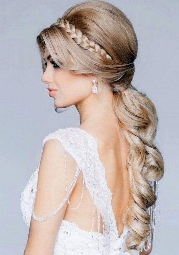 Hairstyles ~ Wedding Hairstyle Long Hair Down Wedding Hairstyles For Throughout Long Hair Down Wedding Hairstyles (View 6 of 15)
