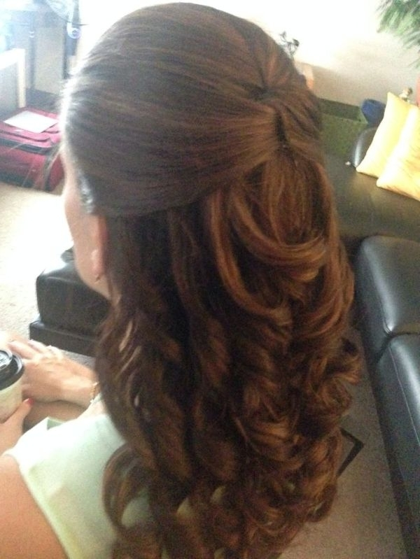 Half Up Do With Curls For A Casual Or Wedding Event Hairstyle For Wedding Event Hairstyles (View 14 of 15)