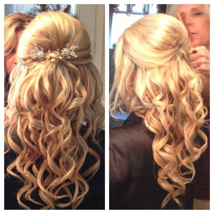 Half Up Hair Flowers |  To Post :wedding Hairstyles For Medium Regarding Wedding Down Hairstyles For Medium Length Hair (View 7 of 15)