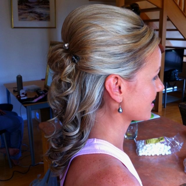 Half Up Half Down Braid Quiff Bouffant Bridal Hair | My Wedding Day With Bouffant Quiff Ponytail Wedding Hairstyles (View 1 of 15)