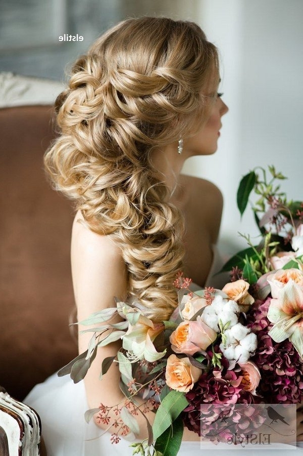 Half Up Half Down Braided Wedding Hairstyle | Deer Pearl Flowers With Half Up Half Down With Braid Wedding Hairstyles (View 9 of 15)