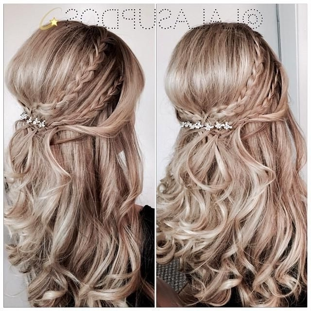 Half Up Half Down Braided Wedding Hairstyles – Google Search Inside Half Up Half Down With Braid Wedding Hairstyles (View 11 of 15)