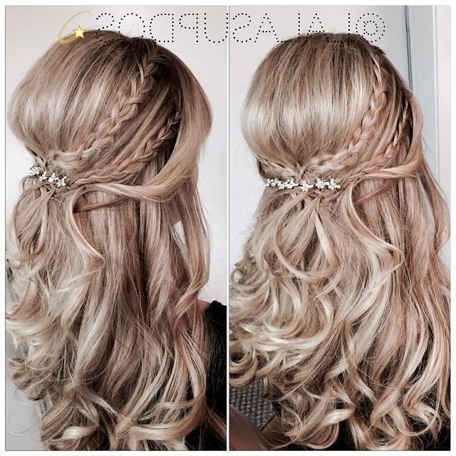 Half Up Half Down Braided Wedding Hairstyles – Google Search Inside Half Up Half Down With Braid Wedding Hairstyles (View 8 of 15)