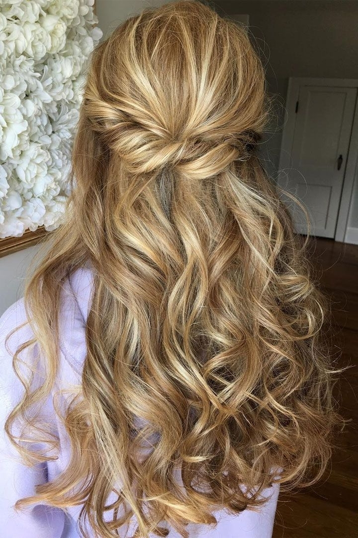 Half Up Half Down Bridal Hairstyles – Partial Updo Wedding Hairstyle Intended For Partial Updo Wedding Hairstyles (View 3 of 15)