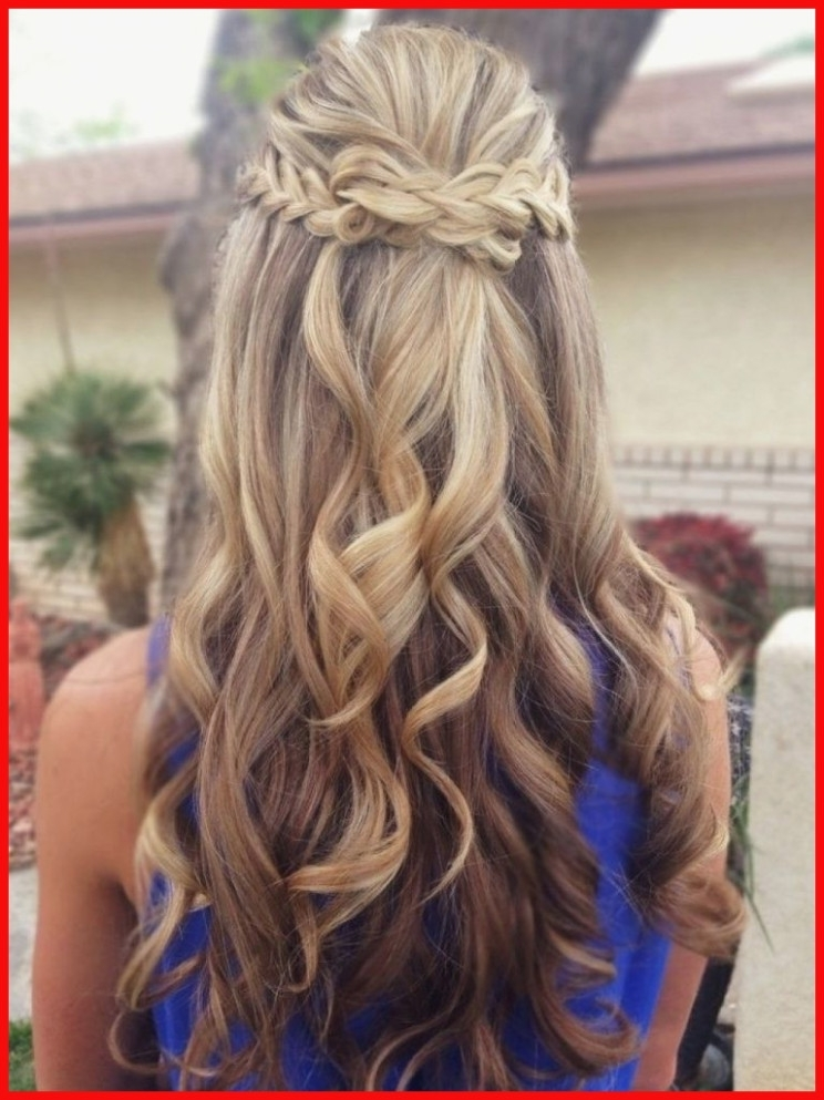 Half Up Half Down Curl Hairstyles – Partial Updo Wedding Hairstyles With Regard To Partial Updo Wedding Hairstyles (View 8 of 15)