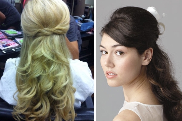 Half Up Half Down Hairstyles For Bridesmaids Using Hair Extensions Intended For Wedding Hairstyles With Hair Extensions (View 13 of 15)