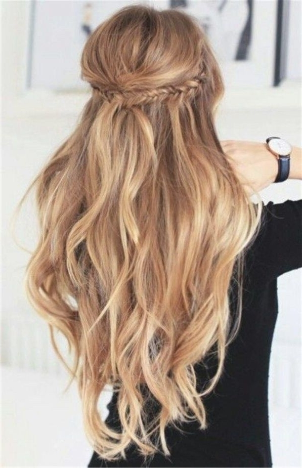 Half Up Half Down Hairstyles For Wedding Guest | Pinterest | Wedding Pertaining To Wedding Guest Hairstyles For Long Hair Down (View 2 of 15)