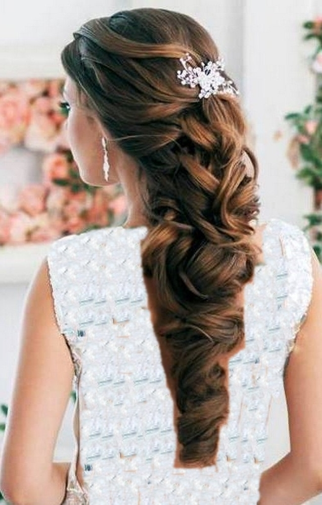 Half Up Half Down Wedding Hair – Hairstyle For Women & Man With Hair Half Up Half Down Wedding Hairstyles Long Curly (View 10 of 15)