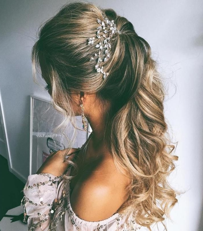 Half Up Half Down Wedding Hairstyles – 50 Stylish Ideas For Brides Regarding Simple Wedding Hairstyles (View 10 of 15)