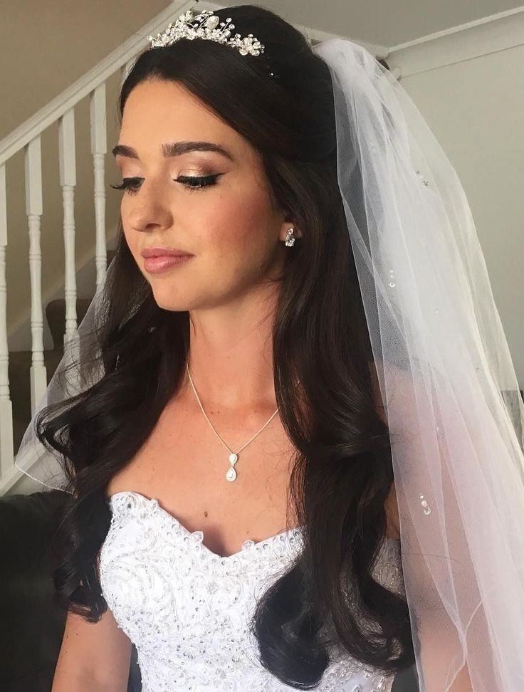 View Gallery of Wedding Hairstyles Down With Tiara (Showing 6 of 15 ...