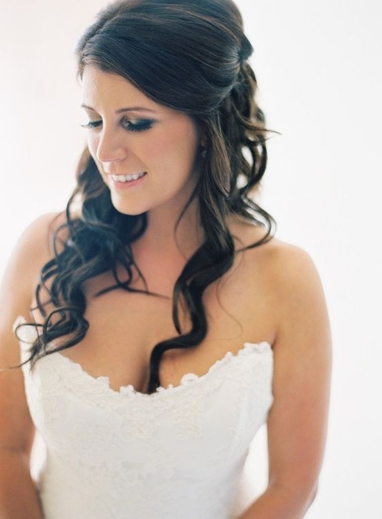 Half Up Half Down Wedding Hairstyles, Best Cuts Ideas Intended For Half Up Half Down With Fringe Wedding Hairstyles (View 12 of 15)
