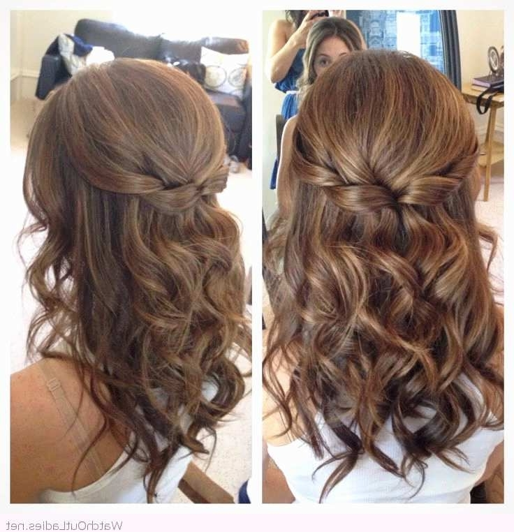 Half Up Half Down Wedding Hairstyles For Medium Length Hair New Within Medium Length Hair Half Up Wedding Hairstyles (View 11 of 15)