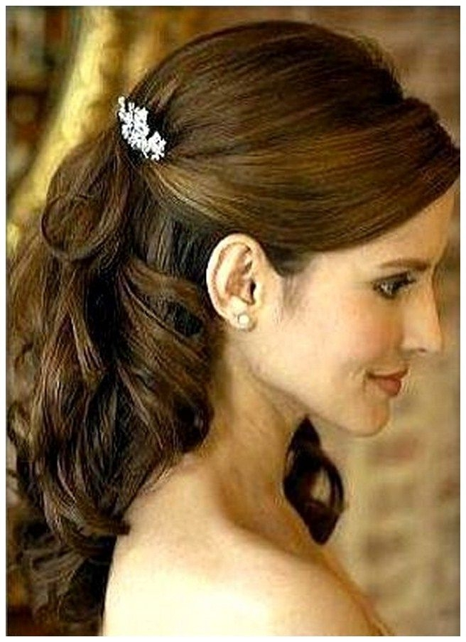 Half Up Half Down Wedding Hairstyles Mother Groom – Half Up Half With Mother Of Groom Wedding Hairstyles (View 8 of 15)