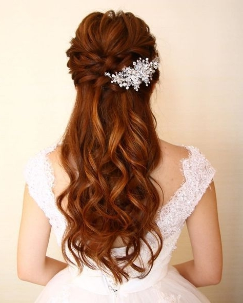 Half Up Half Down Wedding Hairstyles – Partial Updo Bridal Hairstyle Throughout Partial Updo Wedding Hairstyles (View 13 of 15)